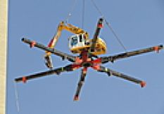 03.06.2014 | 30-тонный экскаватор-паук - первое использование на высоте 82 метров